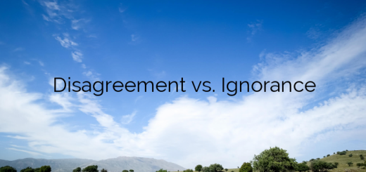 Disagreement vs. Ignorance