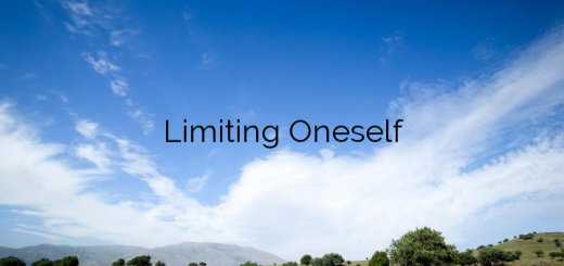Limiting Oneself