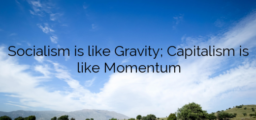 Socialism is like Gravity; Capitalism is like Momentum
