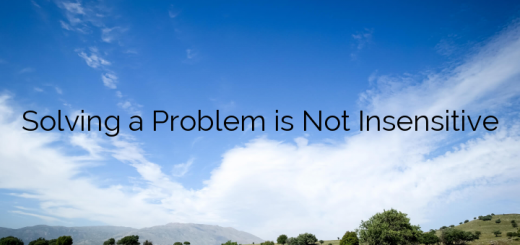 Solving a Problem is Not Insensitive