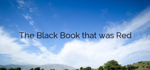 The Black Book that was Red